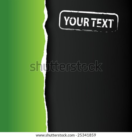 Green fragmentary paper with place for text