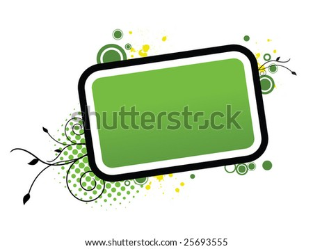 Green Frame - stock vector