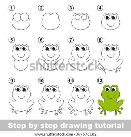 green frog step by step