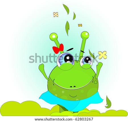 green frog vector green day