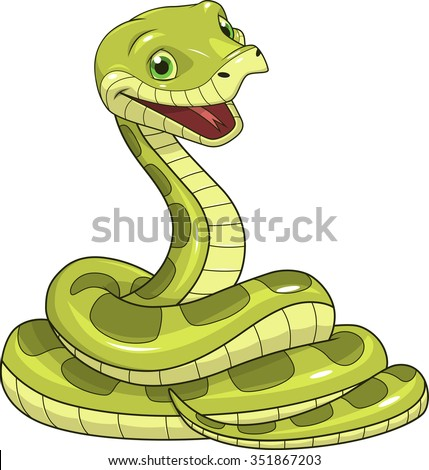 stock-vector-green-funny-snake