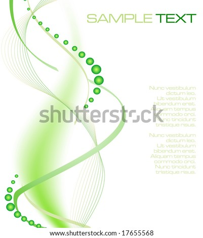 green futuristic background - vector illustration