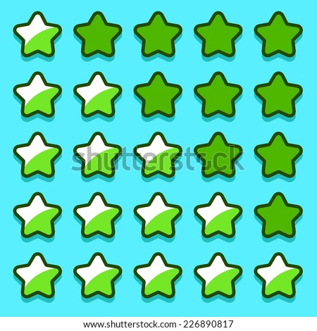 stock-vector-green-game-rating-stars-ico