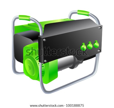 Green Generator on a white background