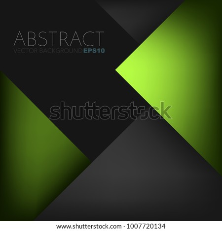 stock-vector-green-geometric-background-triangle-layer-overlap-with-black-space-for-text-and-background-design