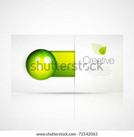 Green glass design template