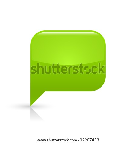 Logo Green Rectangle with Bubbles