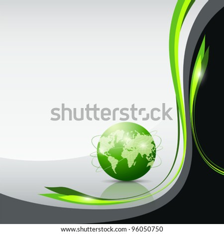 Green globe concept, vector illustration