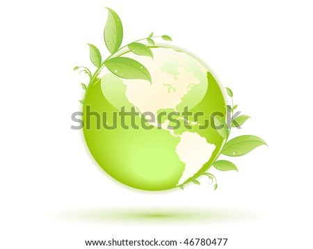 green globe with green concept