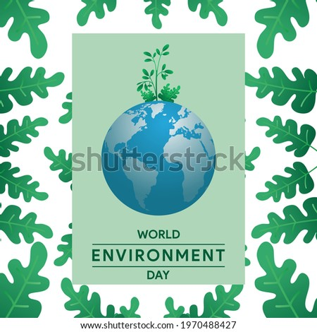 green globe with leaves world