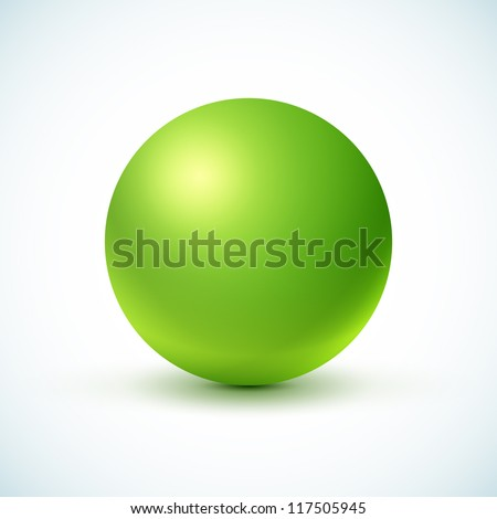 green glossy sphere isolated on