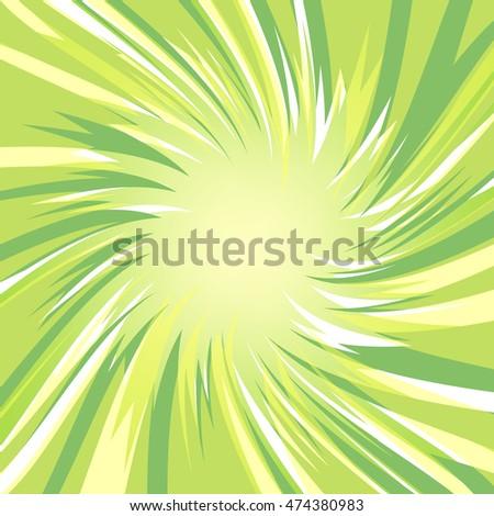 green glowing lowpoly burst