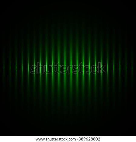 Green glowing stripes. Laser beams. Vector illustration.