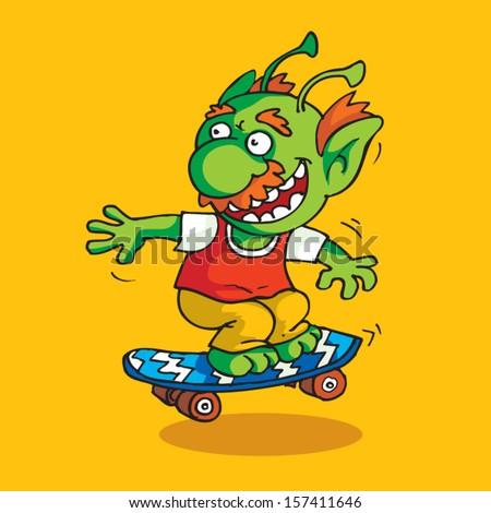 Green Goblin Skateboarding