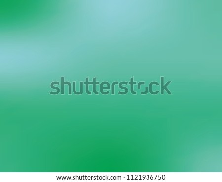 Green gradient background. Vector illustration. Bright pattern with a smooth flow of shades of blue and green. To create modern layouts, posters, backs, covers, phone screensavers, social networks