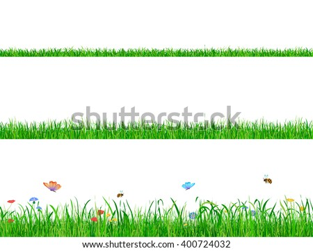 green grass banner collections