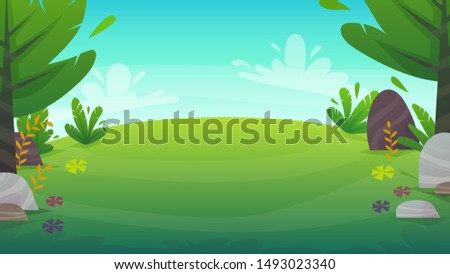 green grass meadow at park or