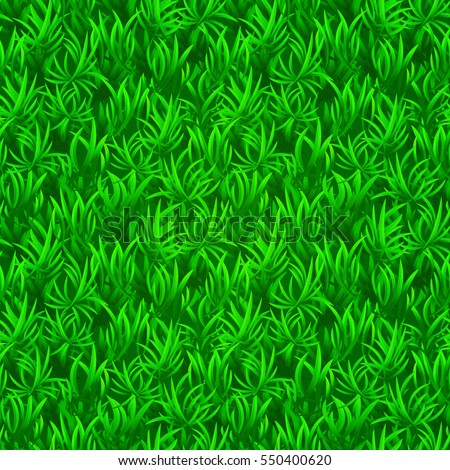 Green grass seamless texture. Vector realistic illustration. Seamless background