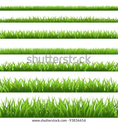 green grass set  isolated on