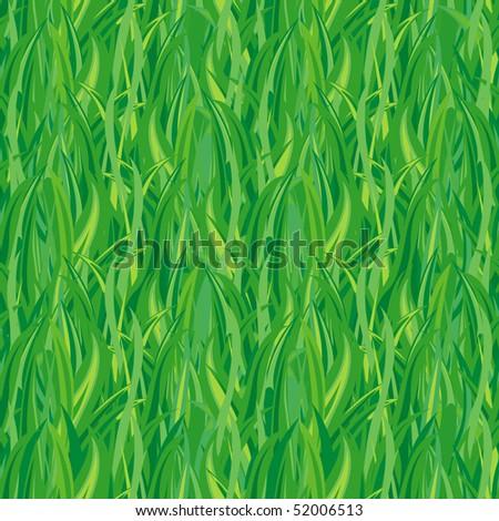 Green grass(vector seamless) - stock vector