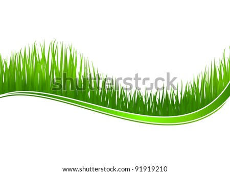 Green grass wave for spring or nature design. Jpeg version also available in gallery