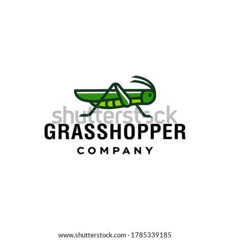 green grasshopper logo  cricket