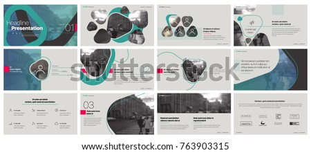 Green gray presentation templates elements on a white background. Vector infographics. Use in Presentation, flyer and leaflet, corporate report, marketing, advertising, annual report, banner.