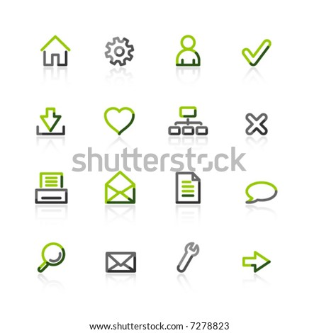 green-gray web icons
