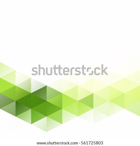 green grid mosaic background