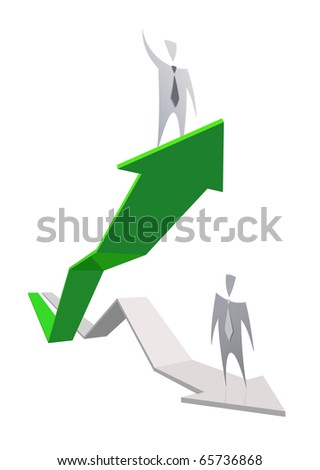 Green growing business graph