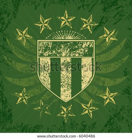 Green Grunge Shield