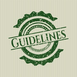 Green Guidelines distressed rubber seal