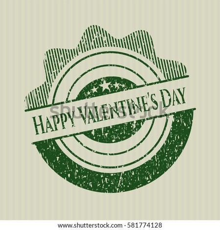 green happy valentine's day