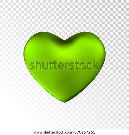 green heart isolated on