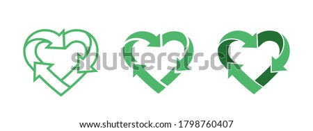 green heart shape symbol with