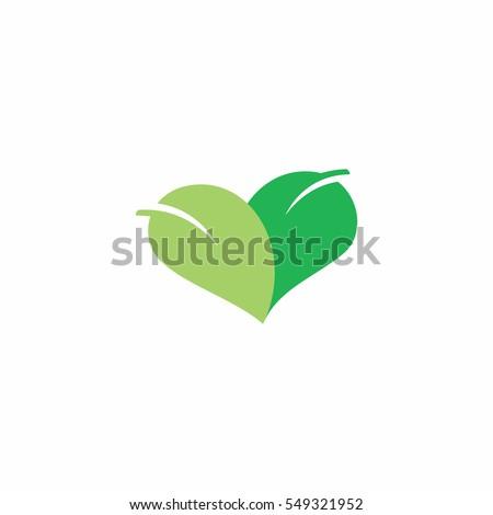 green heart shaped logo icon