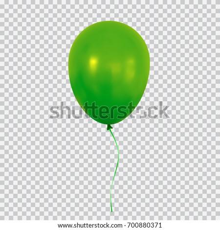 green helium balloon birthday