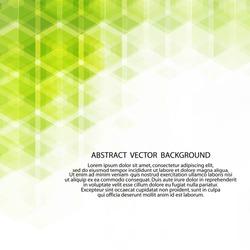 green hexagon background. polygonal style
