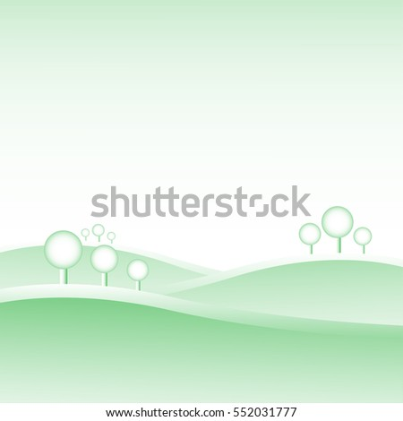 green hill landscape and tree