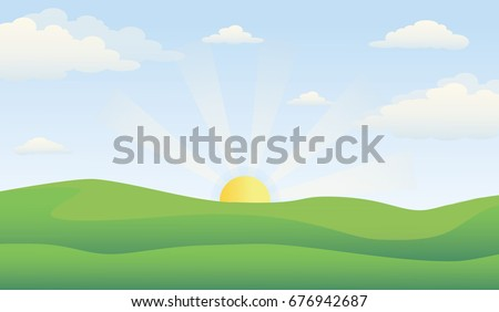 green hill landscape with