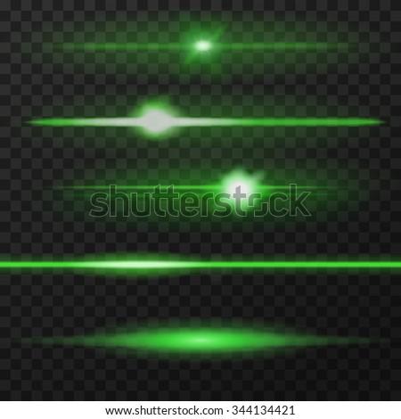 green horizontal lens flares