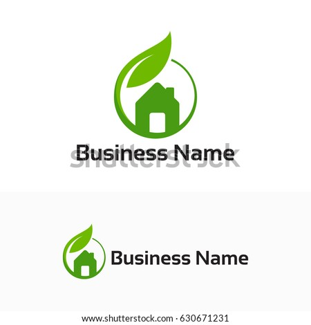 Stock Photo Green House abstract real estate design template