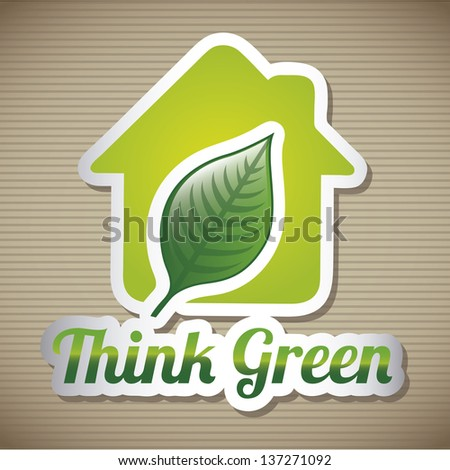 green house over brown background. vector illustration