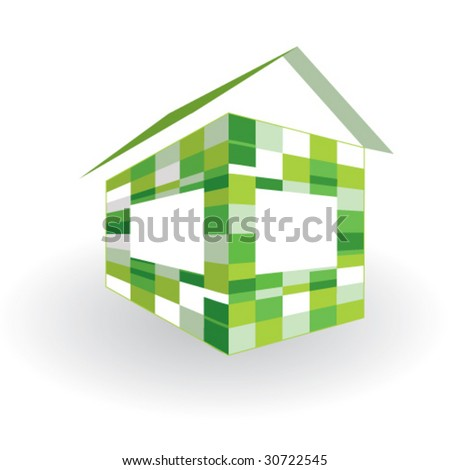 Green house. Symbol of sustainable living and energy efficiency.