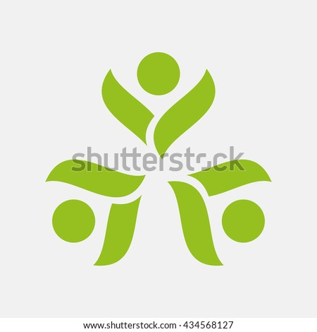 Green icon of Team on Light Gray background. Eps-10. #434568127
