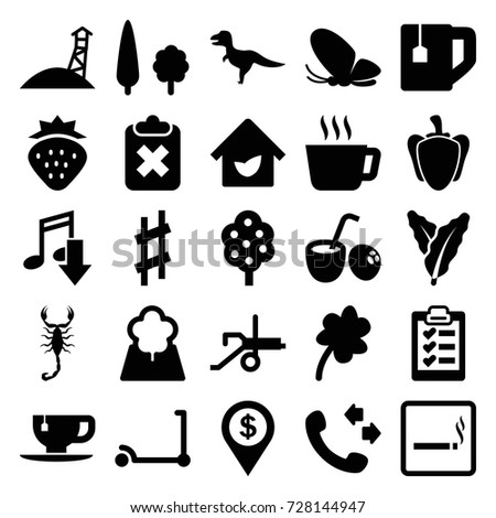 green icons set set of 25