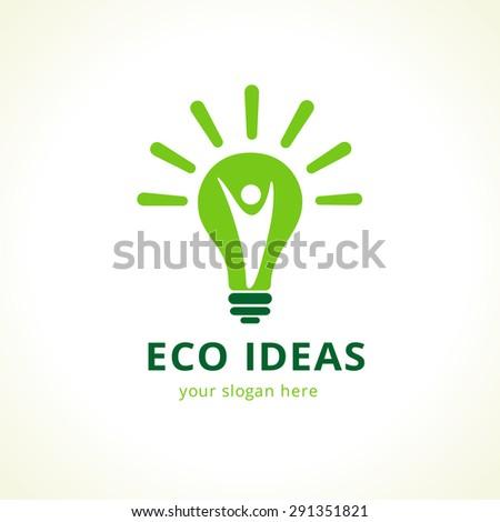 green idea logo template in a
