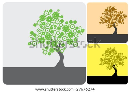 Green Industry - stock vector