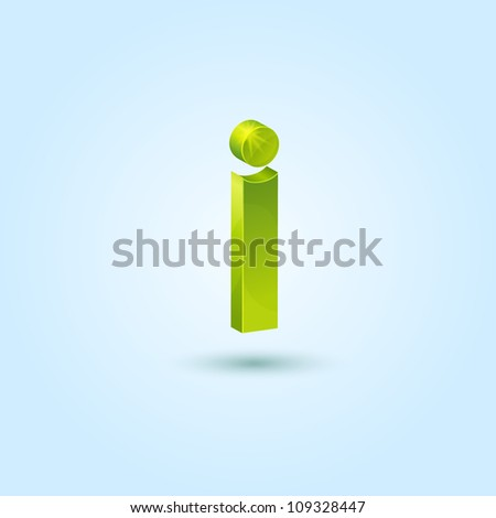 Green info symbol isolated on blue background. This vector icon is fully editable.