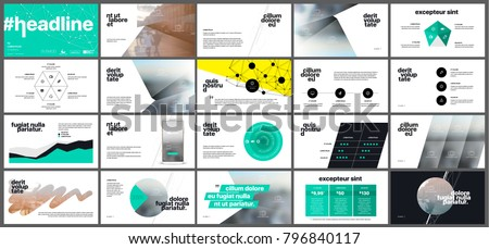 Green infographics elements on a white background. Vector Presentation templates. Use in presentation, flyer and leaflet, corporate report, marketing, advertising, annual report, banner. #796840117